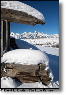 Winter, Shane Cabin, Grand Teton National Park, Jackson Hole, Wyoming